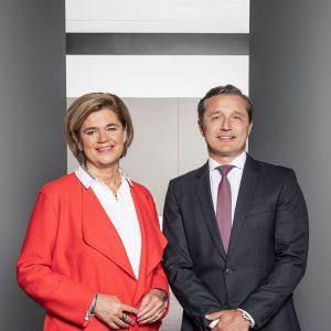 Vorstand der Casinos Austria AG Bettina Glatz-Kremsner und Martin Skopek