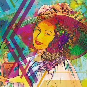 Gemälde Frau mit Hut