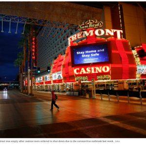 Menschenleere Straße in Las Vegas