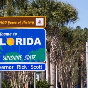 Willkommensschild Florida