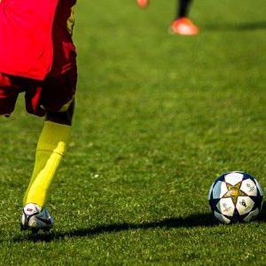 Ein Fußballer auf dem Platz