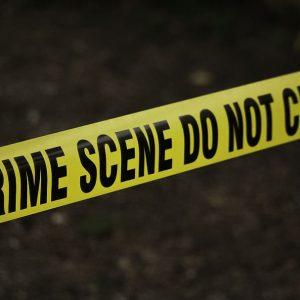 Polizeiabsperrung Absperrband Polce Crime Scene