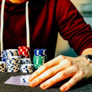 Hand, Spielchips, Karten