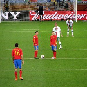 Die spanische Nationalmannschaft auf dem Spielfeld