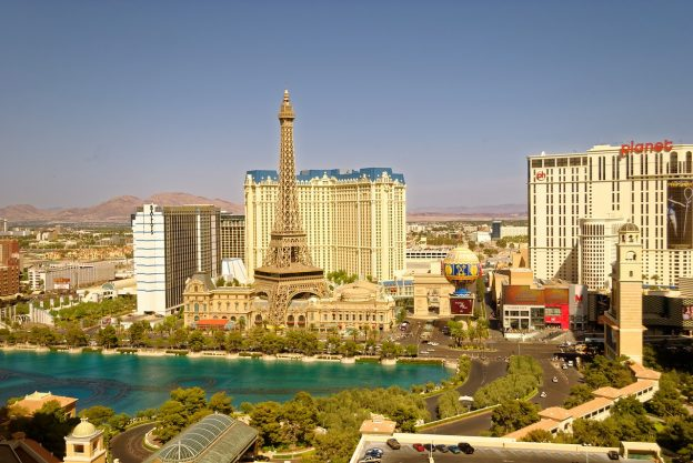 Las Vegas Parisian Eiffelturm Casinos Skyline