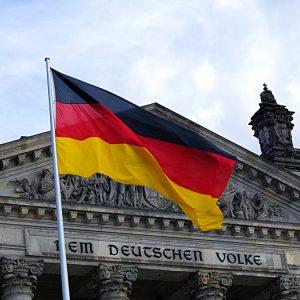 Deutscher Reichstag Deutschlandflagge Fahne Dem Deutschen Volke