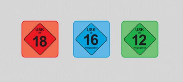 USK Symbole ab 18 ab 16 ab 12