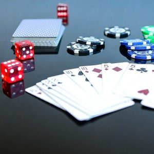 Poker, Karten, Chips, Würfel