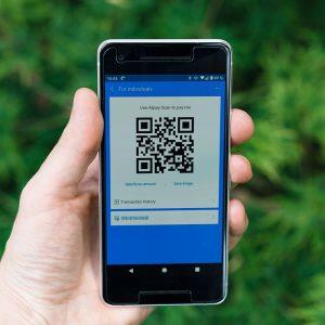 Smartphone, Hand, QR-Code
