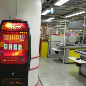 Spielgerät in einem Supermarkt