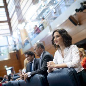 Isabel Díaz Ayuso, PP, Präsidentin der Regionalregierung Madrid