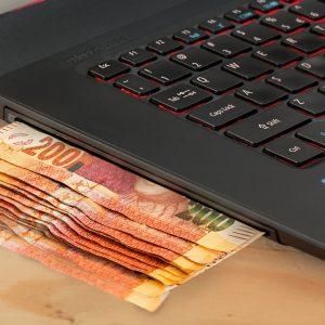 Geldscheine in Computer