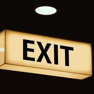Exit-Zeichen