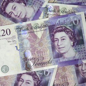 Britische Pfund 20 Pfund Geldscheine