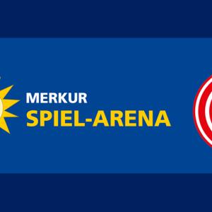 Merkur Spiel-Arena Fortuna Düsseldorf Logos