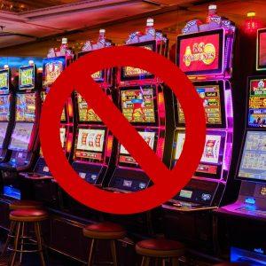Verbotsschild, Spielautomaten
