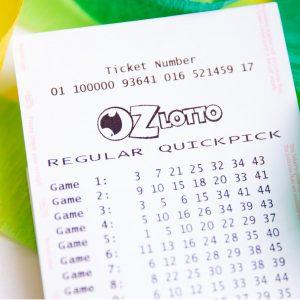 OZ Lotto Lottoschein Australien