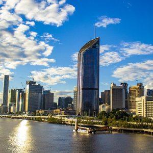 Brisbane Queensland Küste und Gebäude Hochhäuser