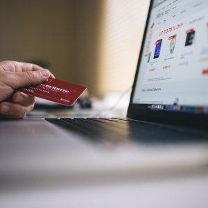 Computer, Kreditkarte, Online-Handel