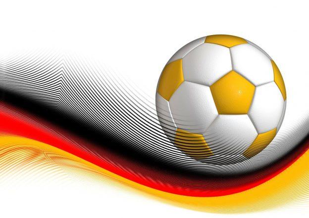 Fußball und Deutschlandflagge