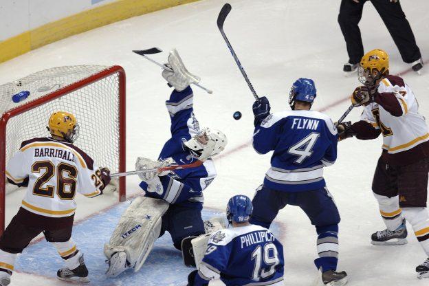 Eishockey-Spieler auf dem Eis