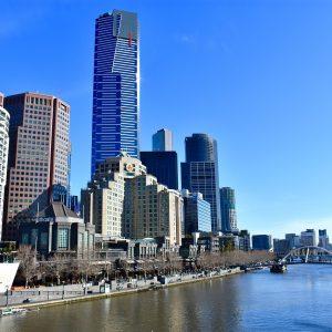 Crown Casino Melbourne am Fluss