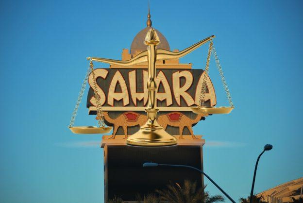 Sahara Casino Schild, Waage