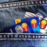 Kreditkarten in einer Hosentasche