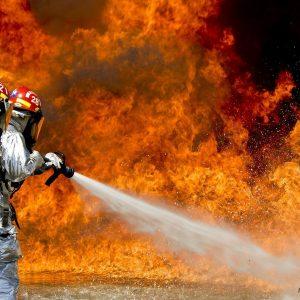 Feuerwehrleute, Brand, Flammen
