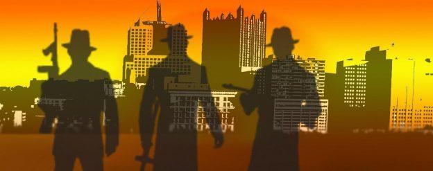 Eine Animation mit Gangstern