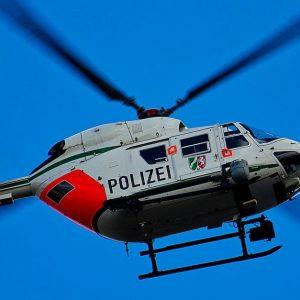 Ein Polizeihubschrauber
