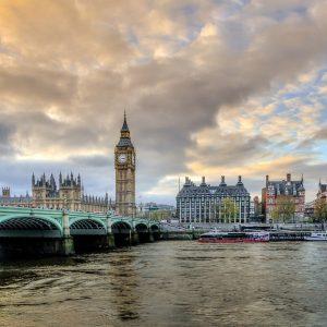 London, Big Ben, Parlamentsgebäude, Themse