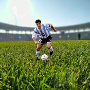 Diego Maradona Fußballstadion Rasen