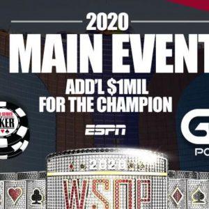 WSOP Main Event 2020 Logo