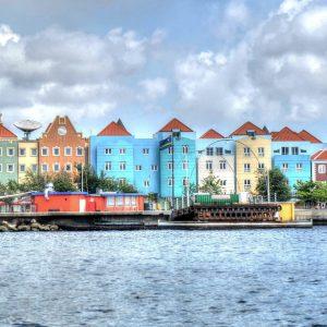 Curaçao Häuser und Meer
