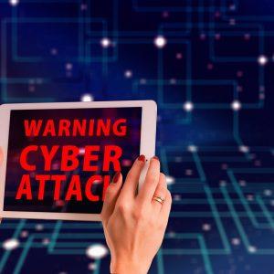 Cyber Attack Warnung Tablet