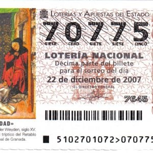 Los spanische Weihnachtslotterie, Lotterielos