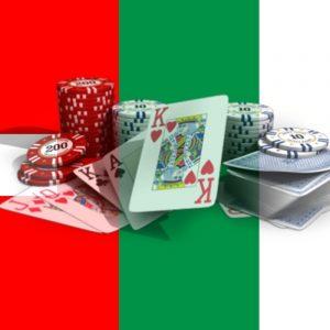 Flagge Schweiz Italien Glücksspiel Spielkarten Jetons