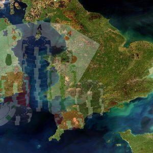 Großbritannien Irland Satellitenbild Glücksspiel Spielkarten Jetons