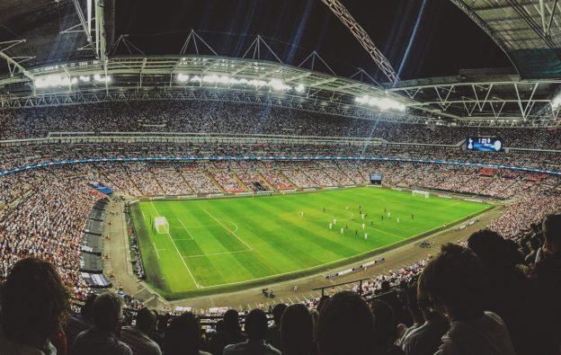 Fußballstadion Fans Spiel
