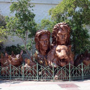 Statue von Siegfried und Roy in Las Vegas