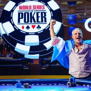Damian Salas, Pokertisch, WSOP Logo
