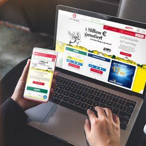 Laptop Smartphone Win2day Online-Spiele