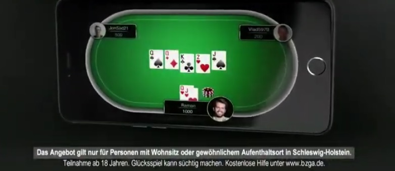 Poker Stars Werbung Angebot gilt nur für Spieler mit Wohnsitz in Schleswig-Holstein