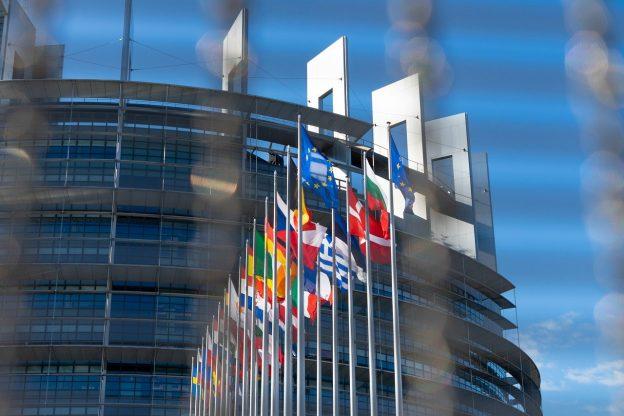 Europaparlament EU Flaggen