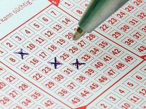 Ein Lottoschein