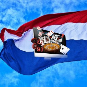 Niederlande Flagge Glücksspiel Roulette Spielkarten Tablet