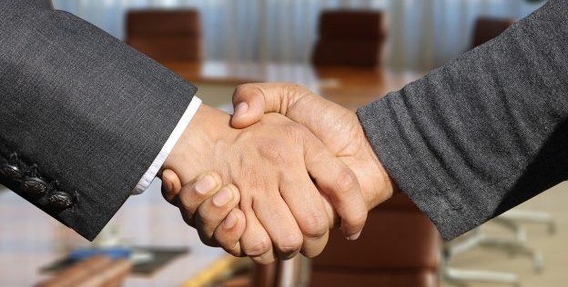 Händeschütteln, Handschlag