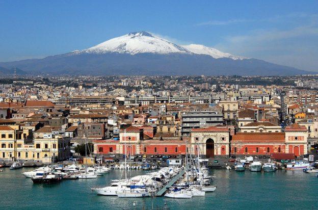 Catania Sizilien Etna Stadt Hafen