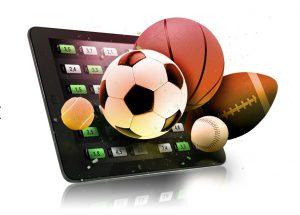 Tablet mobile Wetten Fußball Basketball Football